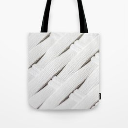 White texture of wicker Tote Bag