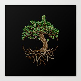 Rope Tree of Life. Rope Dojo 2017 black background Canvas Print