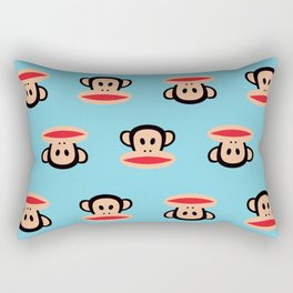 Julius Monkey Pattern by Paul Frank - Blue Rectangular Pillow