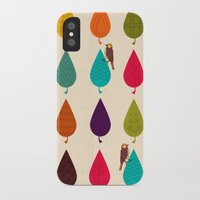 leaves iPhone & iPod Cases featuring Leaves by Kakel