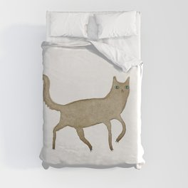 Suspicious-Looking Moggy Duvet Cover