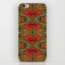 Whimsical pink, orange and green retro pattern  iPhone Skin