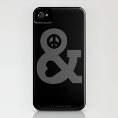 Peace and Love iPhone (4, 4s) Slim Case