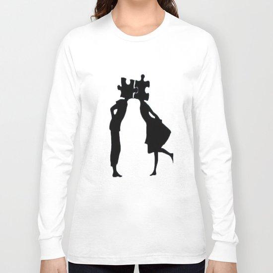Puzzle Woman Man Long Sleeve T-shirt