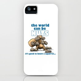 the world can be nuts iPhone Case