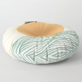 Good Morning Meow 7 Sunny Day Ocean  Floor Pillow