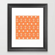 Geo Triangle Orange 3 Framed Art Print
