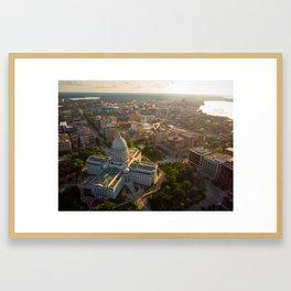 Sundown Wisconsin Framed Art Print