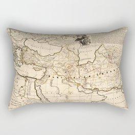 Middle East, Balkan Peninsula Map (1712) Rectangular Pillow