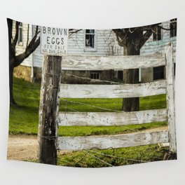 Brown Eggs for Sale Wall Tapestry