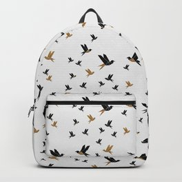 Origami Birds Collage III, Minimalist Wall Art Backpack