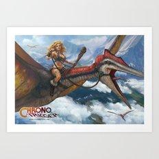 Ayla Dino Rider Art Print