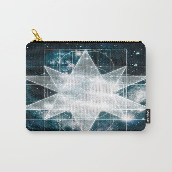 Sacred Geometry : Teal Galaxy Carry-All Pouch