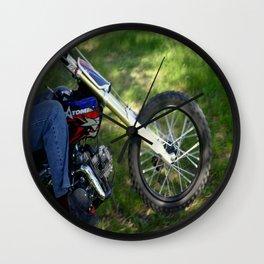 Spinning Chrome Wall Clock