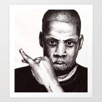 jay fleck Art Prints featuring Jay by dan,