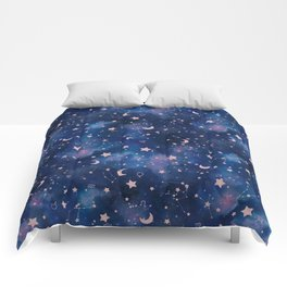 Zodiac - Watercolor Comforters