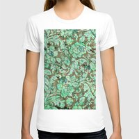 flower pattern T-shirts featuring Flower pattern by nicky2342