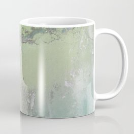Green Patina Marble Wall Grunge Texture Earthy Vintage Pattern Mexico Mexican Natural Paint Marbled Coffee Mug