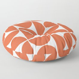 Modern Geometric Seamless Orange Pattern Mid Century Floor Pillow