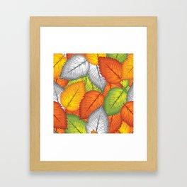 Autumn leaves #1 Framed Art Print