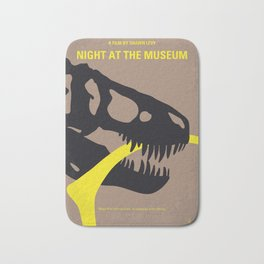 No672 My Night at the Museum minimal movie poster Bath Mat