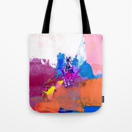 polo abstract red blue Tote Bag