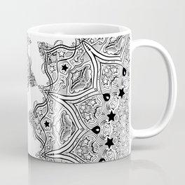 Stars and Stripes - Patriotic Mandala - Black and White - 'Merica! Coffee Mug
