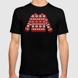 Winter kitty knit T-shirt