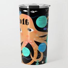 Octopus poster Calender 2016 Travel Mug