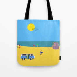 Surfer beach Tote Bag