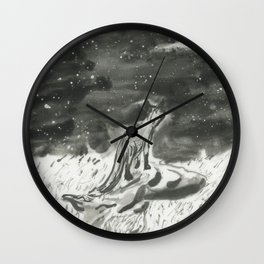 Fox and Falling Star Wall Clock