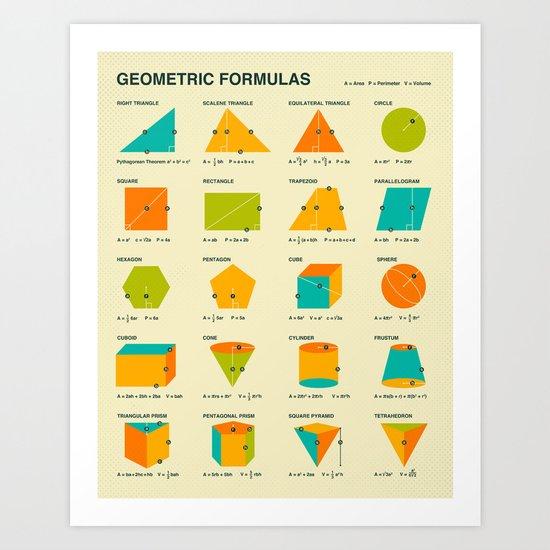 GEOMETRIC FORMULAS Art Print