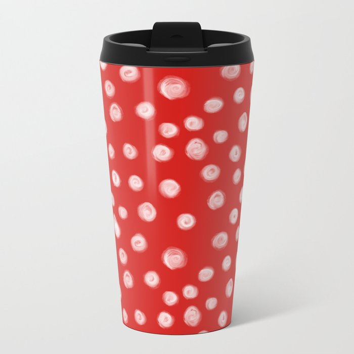 Basic red and white dots love valentines day minimal polka dot ...