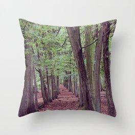 Woodland Trees. Throw Pillow