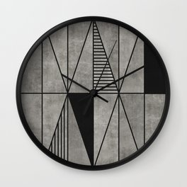 Concrete triangles Wall Clock