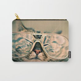 Sosy Cat with Glasses Carry-All Pouch
