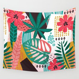 Matisse Inspired Pop Art Tropical Fun Jungle Pattern Wall Tapestry