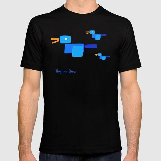 Happy Bird-Blue T-shirt