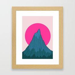 The lonely morning Peak Framed Art Print
