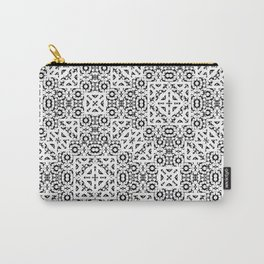 Black and White Oriental Ornate Carry-All Pouch