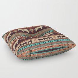 Boho dogs | Siberian Husky sunset Floor Pillow