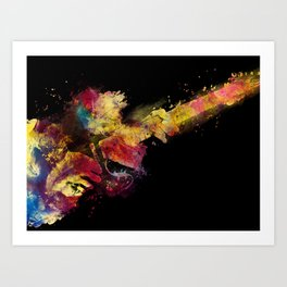 guitar art 8 #guitar #art #music Art Print