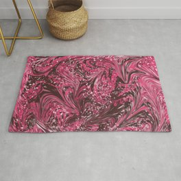 Pink and Brown Craziness Rug