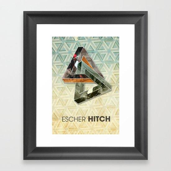 escher hitch Framed Art Print