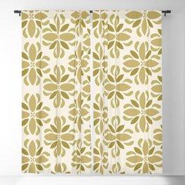 Vintage floral motif design Blackout Curtain