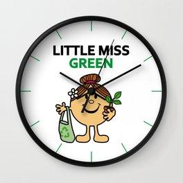 Little Miss Green Wall Clock
