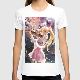 Anime Art - Kaori - The Beauty of Sound T-shirt