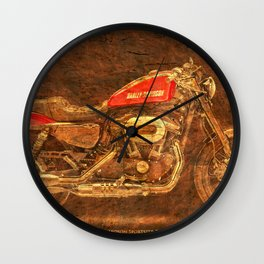 2016 Harley Sportster Roadster 1200 Gold poster for man cave Wall Clock