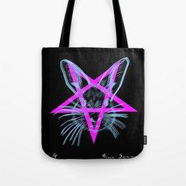 Pentagram Rabbit Tote Bag