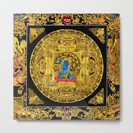 Buddhist Mahakala Mandala Golden Kalarupa Metal Print